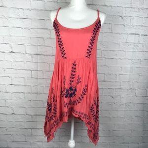 Free People Pink/Blue Asymmetrical Dress Sz S